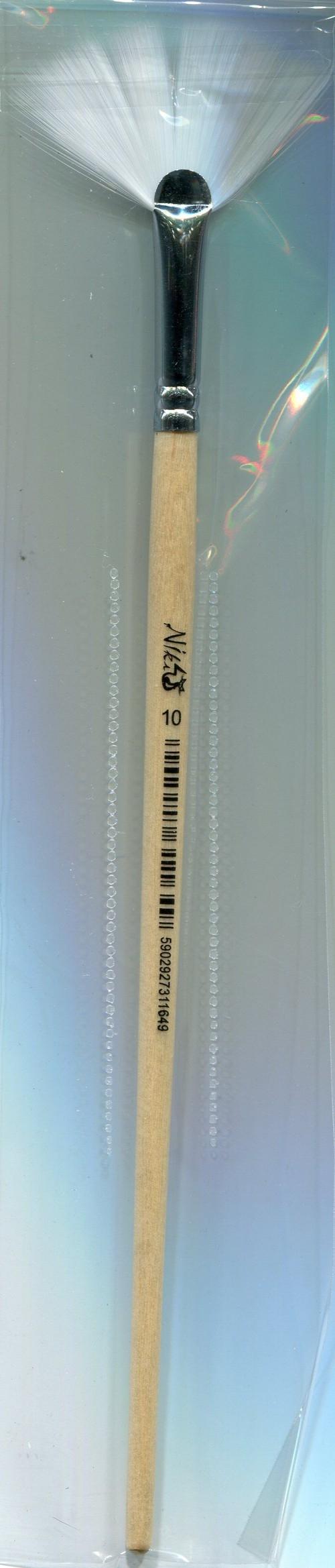 Pędzle nylonowe Niki-4 wachlarzowy nr 10 12 sztuk