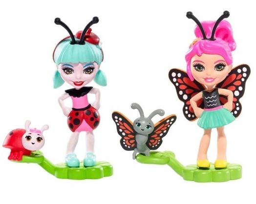 Enchantimals: Małe Przyjaciółki Kwitnący Ogród 2-pak: Ladelia Ladybug i Baxi Butterfly (FXM86/FXM87)