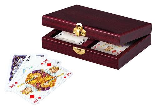 Karty lux w szkatułce drewnianej