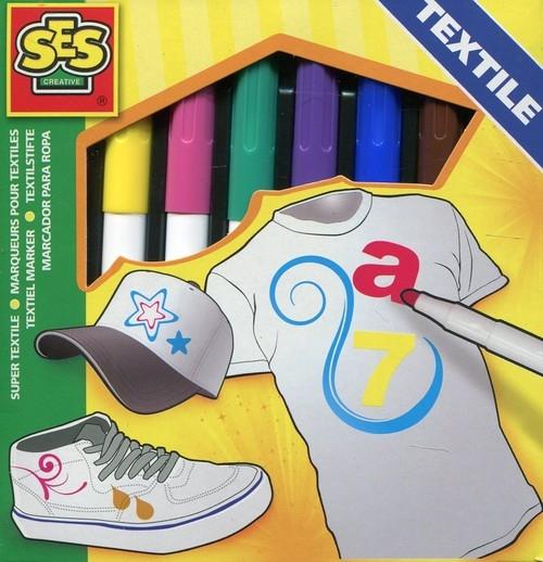 Mazaki do tkanin 8 kolorów