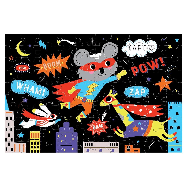 Mudpuppy, Puzzle świecące w ciemności 100: Superbohaterowie (MP54012)