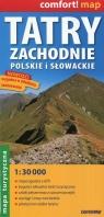 Tatry Zachodnie polskie i słowackie mapa turystyczna 1:30 000