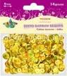 Dodatek dekoracyjny Titanum cekiny złote 14g