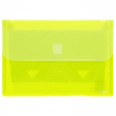 Teczka plastikowa Ev-corp z kieszeniami koperta na dokumenty kolor: żółty (18703)