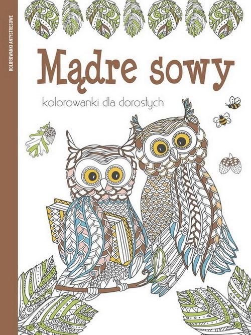 Kolorowanki dla dorosłych. Mądre sowy - Praca zbiorowa - książka
