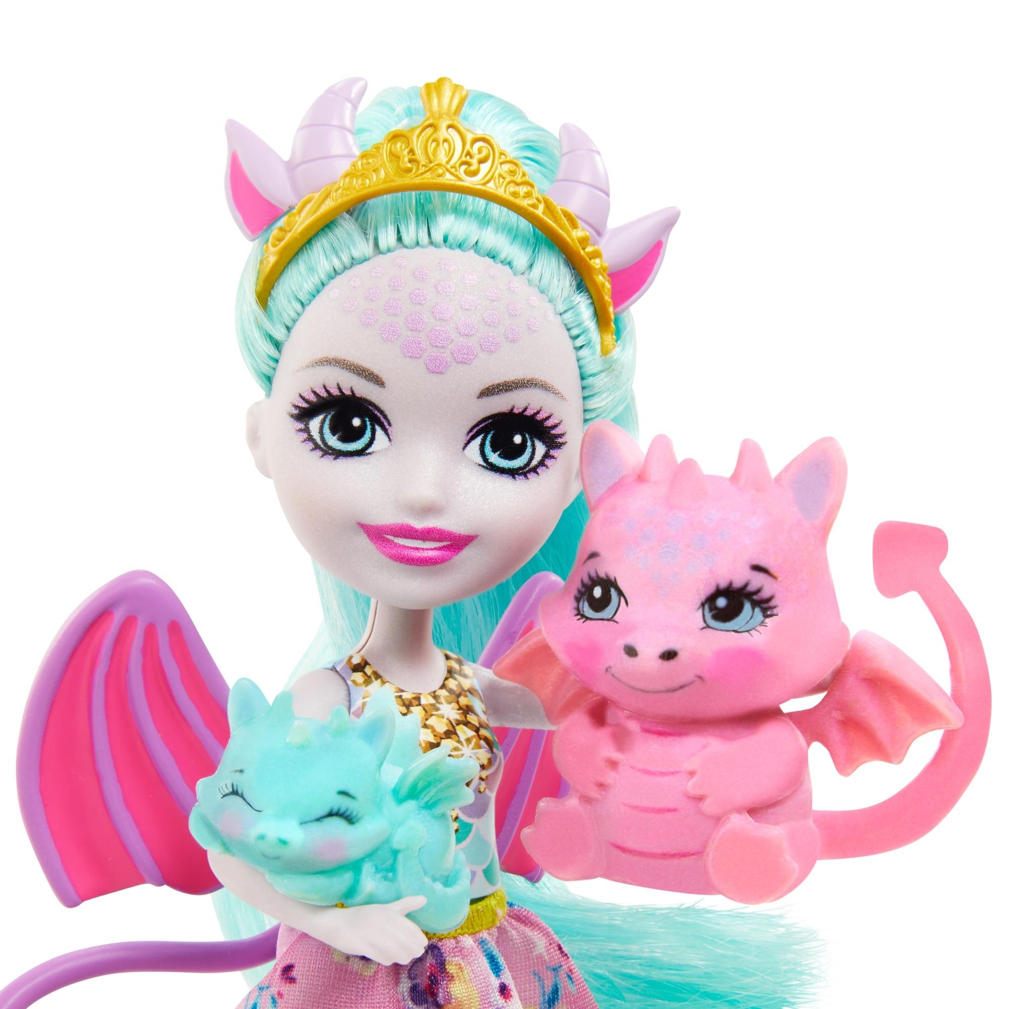 Enchantimals: Rodzina - Deanna Dragon + smoki (GJX43/GYJ09)