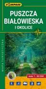 Puszcza Białowieska mapa laminowana