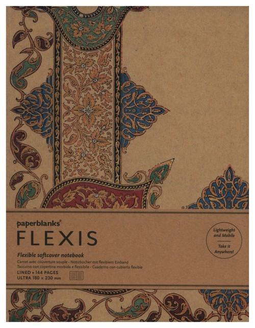 Notatnik Visions of Paisley Ivory Kraft Flexis