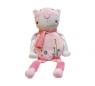 Kot Figuś siedzący różowy 30cm
