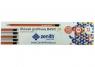 Ołówek Zenith Basic trójkątny z gumką 2B