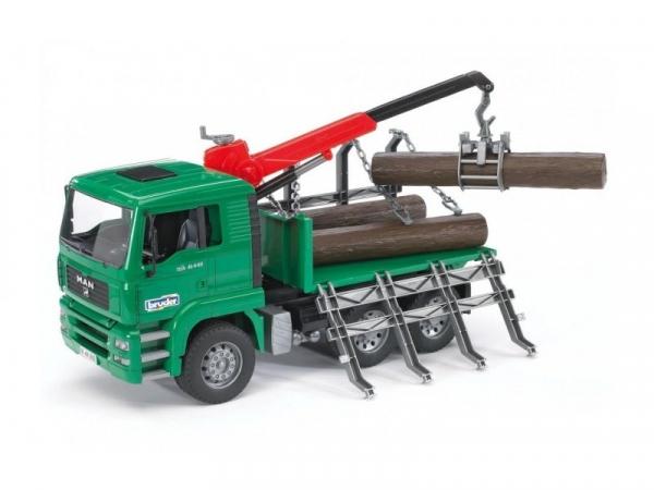 Pojazd MAN z żurawiem i pniami (BR-02769)