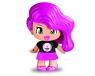 Pinypon City - laleczka Emoji 7cm z akcesoriami. Seria 10 - różowe włosy