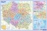 Podkładka edukacyjna MAPA ADMINISTRACYJNA POLSKI z kodami pocztowymi