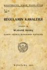 Regulamin kawalerii Władanie bronią (lanca-szabla-karabinek-pistolet)