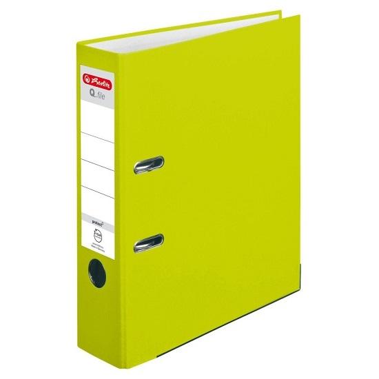 Segregator A4/8cm Q.file - zielony neon (50022489)
