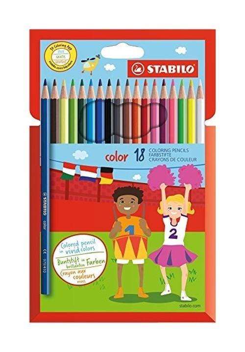 Kredki Stabilo Color 18 kolorów
