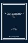The Studia Philonica  Annual V, 1993