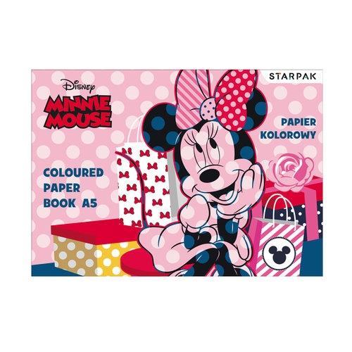 Papier kolorowy A5 Minnie 10 kolorów 25 sztuk