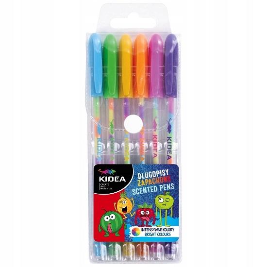 Długopisy żelowe zapachowe, 6 kolorów (DRF-80700)
