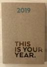 Kalendarz tygodniowy brązowy