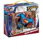 Klocki obrazkowe 12 z okienkiem - Superman .