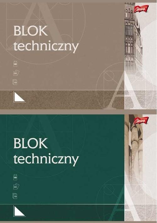 Blok techniczny C4 10 kartek 10 sztuk mix