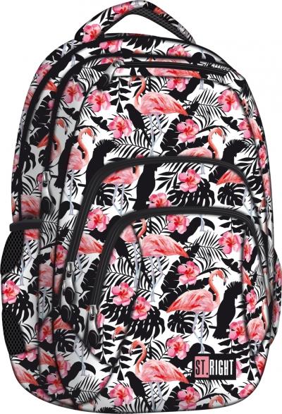 Plecak szkolny Stright Flamingo pink&black BP-25