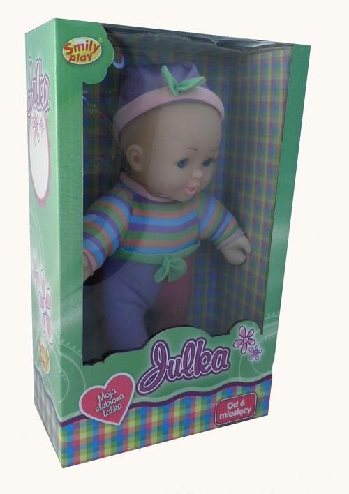 Lalka Julka 22 cm w paski