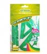 Zestaw geometryczny Flexi z linijką 15 cm zielony (CR615)