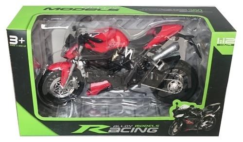 Motocykl czerwony 1:12