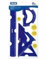 Zestaw elastycznych linijek Milan ACID niebieski (359801)