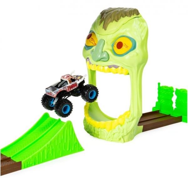 Monster Jam - Zestaw wyczynowy: Zombie Madness + Superterenówka Zombie  (6045029/20103383)