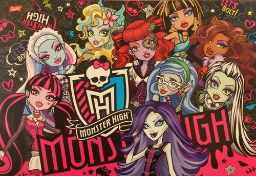 Podkład szkolny obustronny na biurko Monster High