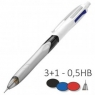 Długopis 3 kolory + ołówek automatyczny PD12