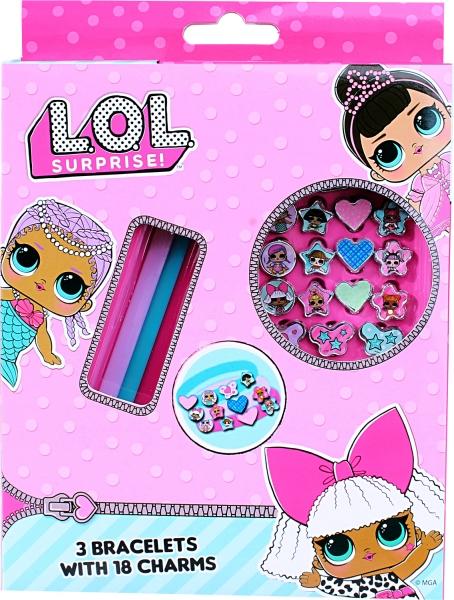 L.O.L. Surprise: Zestaw bransoletek z zawieszkami - 21 elementów (LOL00001)