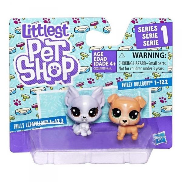 Littlest Pet Shop Dwupak, Pitbull and Papillion (B9389/C3008)