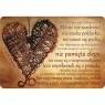 Magnes na lodówkę SZMG/0017 Hymn o miłości /BRĄZ