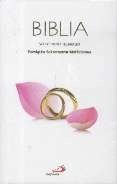 Biblia ST i NT. Pamiątka Sakramentu Małżeństwa praca zbiorowa