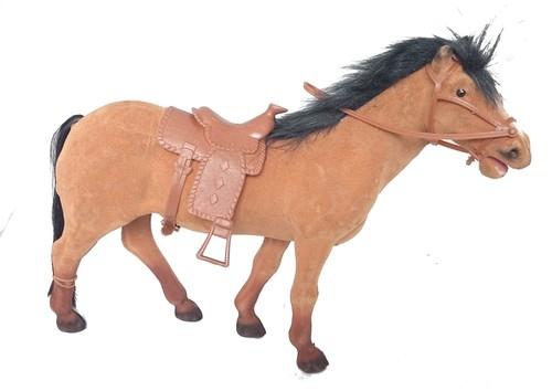Koń figurka 30 cm brązowa
