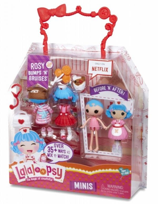LALALOOPSY Lalka Mini W1, Rosy Bumps N Bruises (542933/546702)