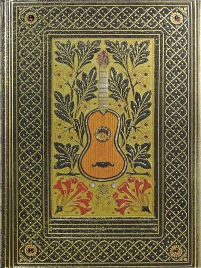Notatnik szyty Pozłacana Gitara
