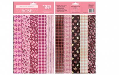 Papiery ozdobne Rose mix - 10 motywów 20x29 cm 10 arkuszy