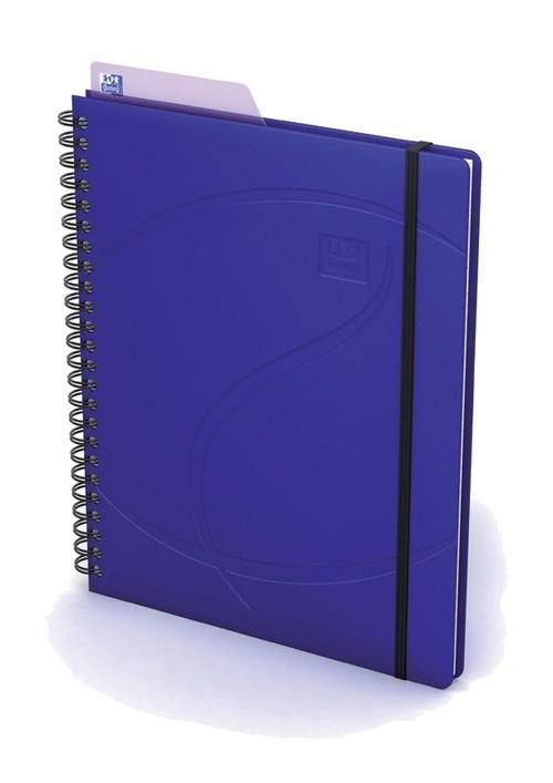Kołonotatnik A5 Oxford w linie 60 kartek Beauty Multitasker niebieski