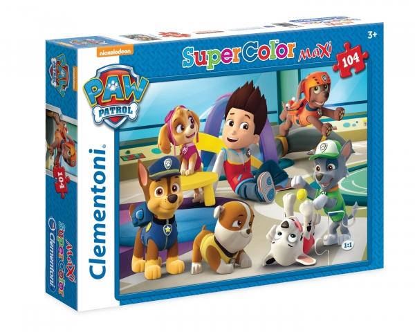 Clementoni, puzzle SuperColor Maxi 104: Psi Patrol (23970)