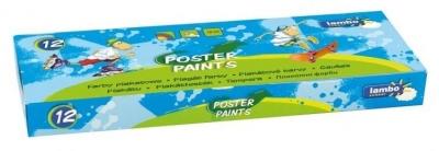 Farby plakatowe 10ml x12 kolorów LAMBO