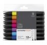 Zestaw pisaków Brushmarker Winsor & Newton - Vibrant Tones, 12 kolorów + 1