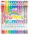 Pachnące długopisy żelowe z brokatem Yummy Yummy 2.0