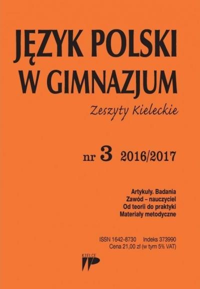 Język Polski w Gimnazjum nr 3 2016/2017 praca zbiorowa