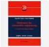 Dictionary for Automotive Engineering Jean de Coster, Otto Vollnhals