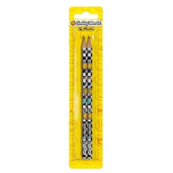 Ołówki z gumką, 2 szt. - SmileyWorld (11229275)